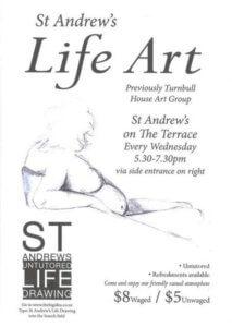 St Andrew's life art poster