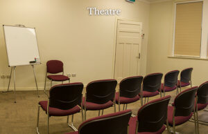 common room set up in theatre style