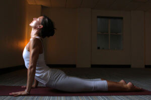 evening yoga class with Julie