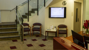 st andrews centre lobby with booking screen